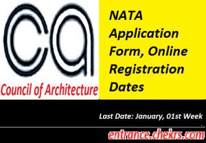 NATA Application Form 2021