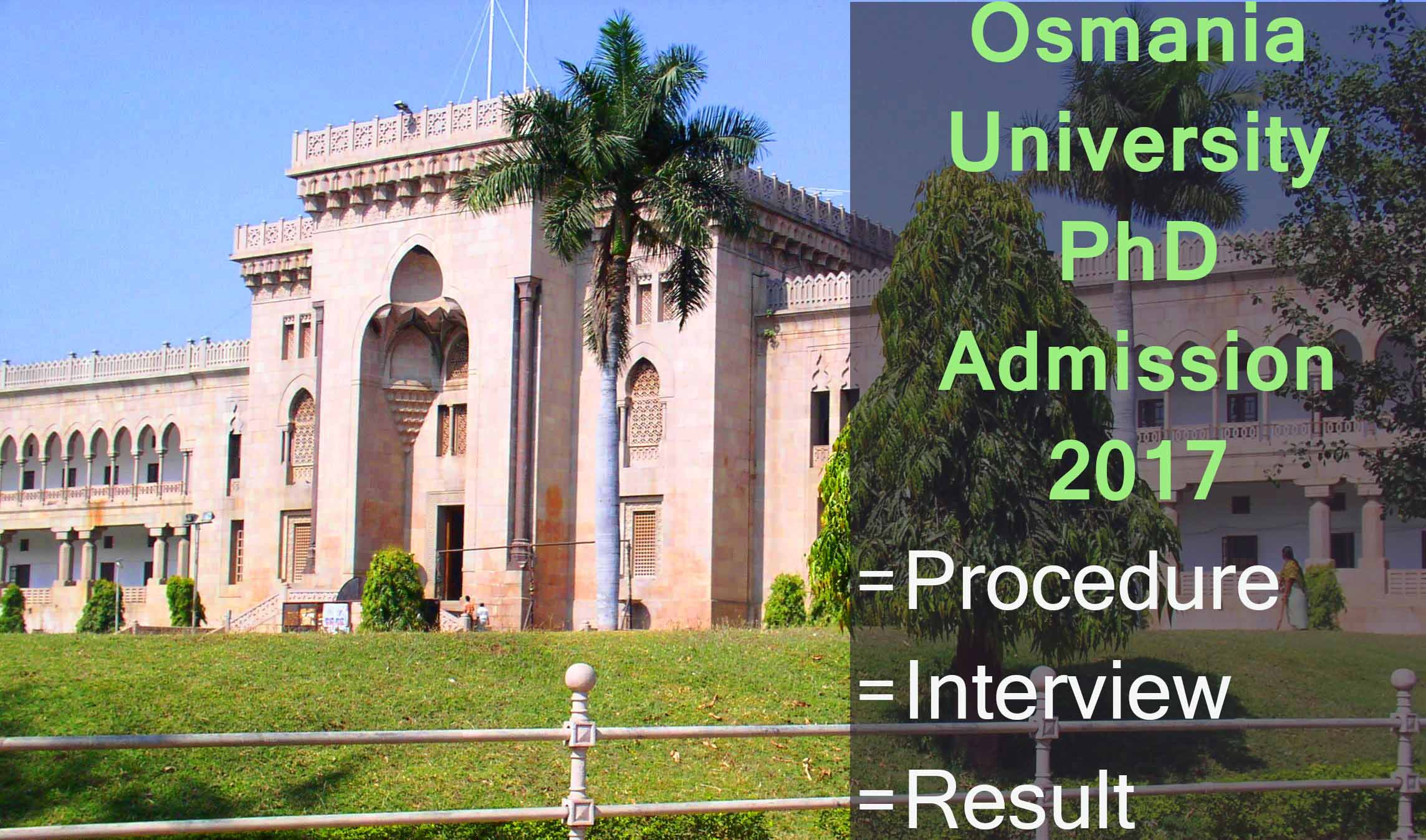 OU PhD Admission Result 2020