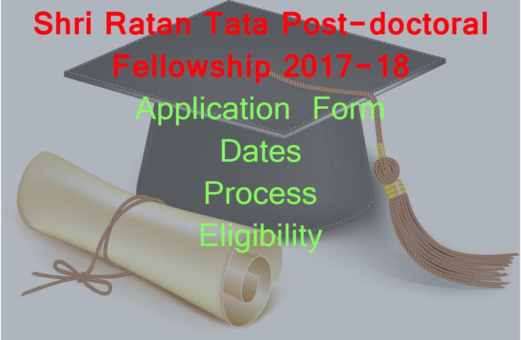 Shri Ratan Tata Post-doctoral Fellowship 2018-19 Dates