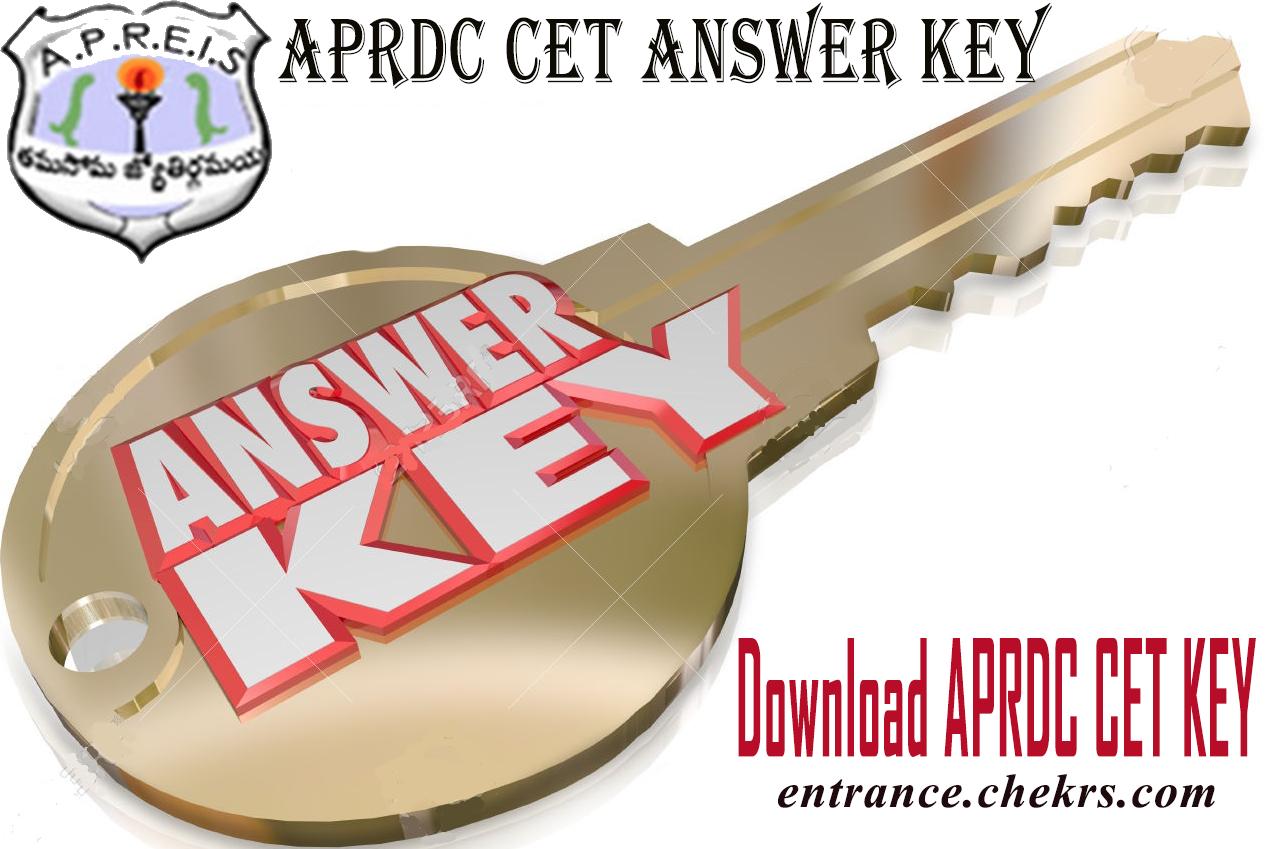 aprdc cet answer key 2020