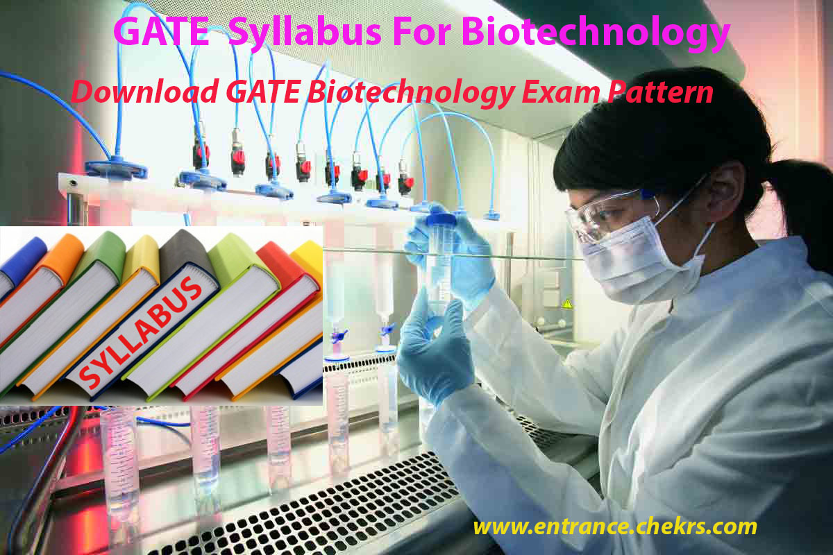 GATE Biotechnology Syllabus 2020 - Exam Pattern, Pdf Download