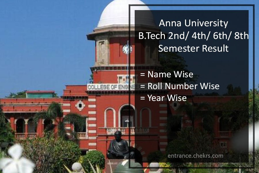 Anna University B.Tech Result 2021