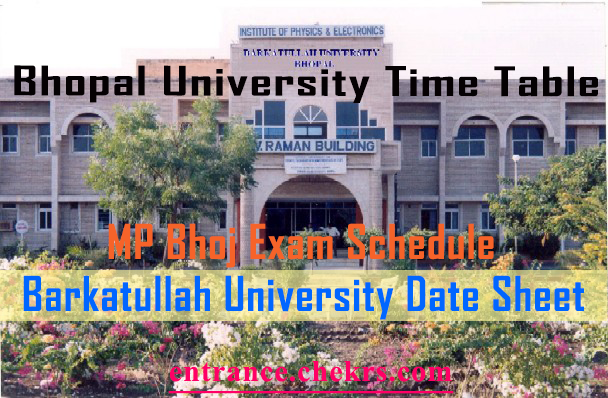 Barkatullah University BU Bhopal time Table 2020