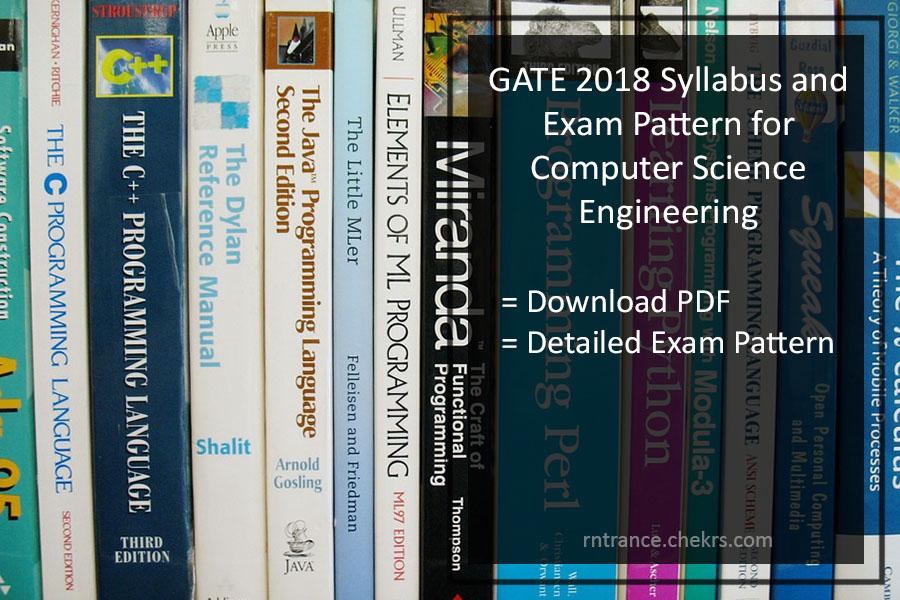 GATE 2020 Computer Science (CSE) Syllabus, Exam Pattern Pdf