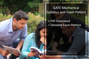 GATE Mechanical Engineering Syllabus and Exam pattern- Pdf Download