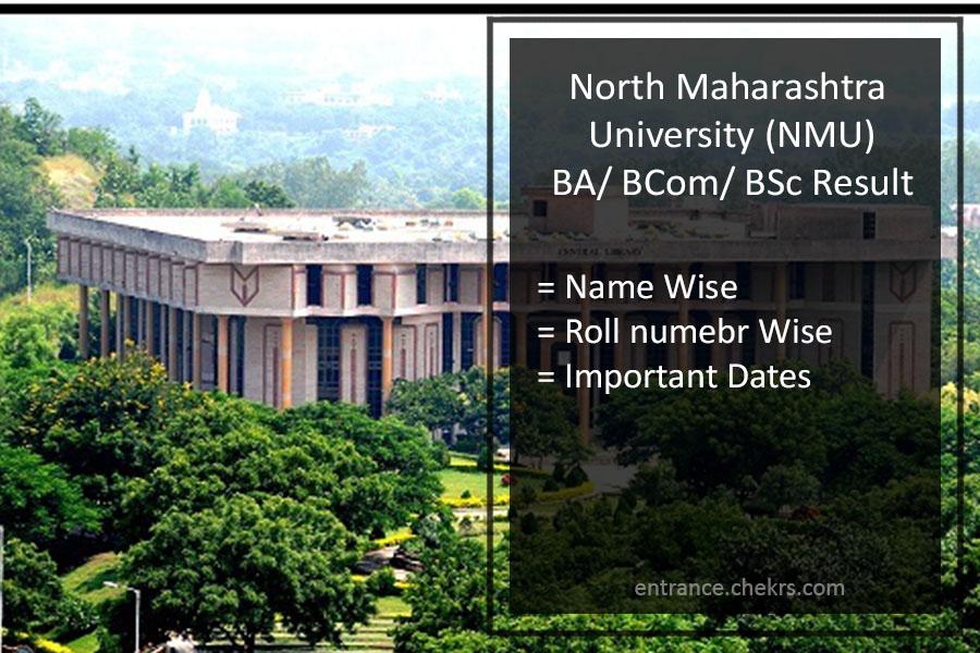 NMU FY-SY-TY BA BSC BCOM Result - North Maharashtra University Results