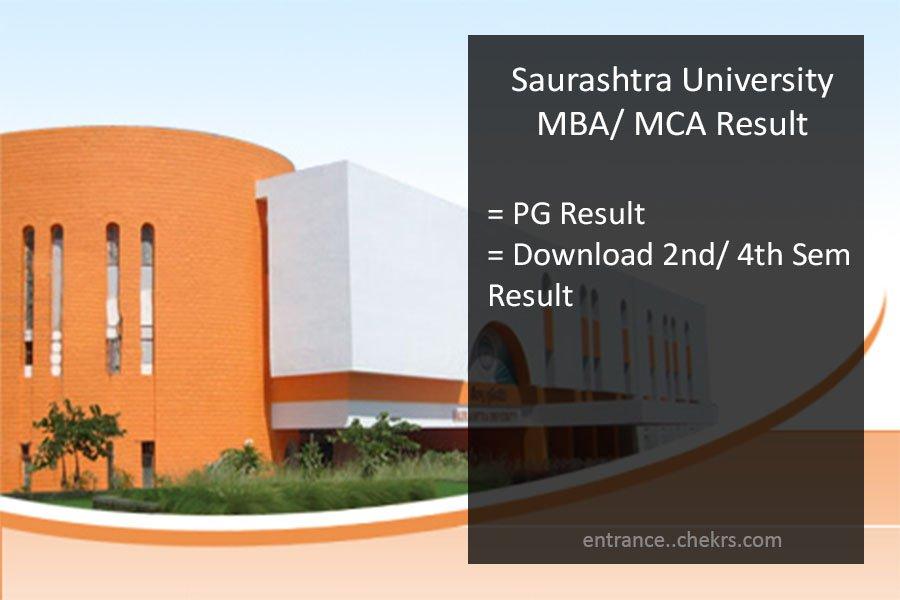 Saurashtra University MCA MBA Result 2021