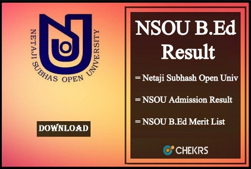 NSOU B.Ed Result