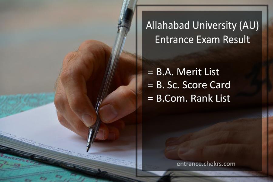 Allahabad University Entrance Result 2020