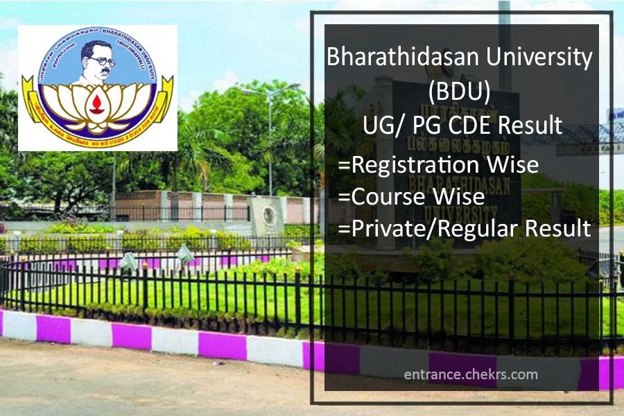 BDU UG PG Result- Bharathidasan University CDE Non/ Semester Results