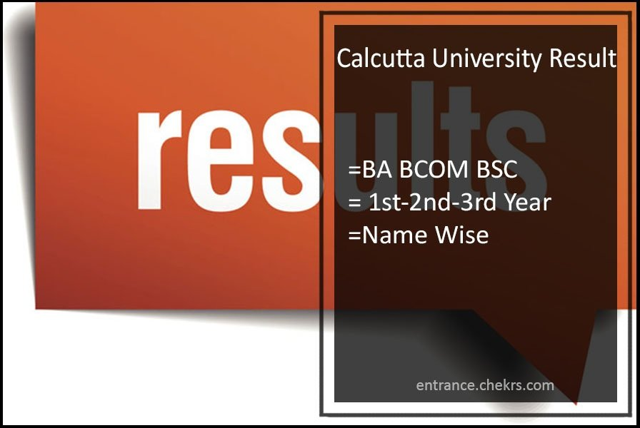 Calcutta University Result, BA BCOM BSC 1st-2nd-3rd Year Results