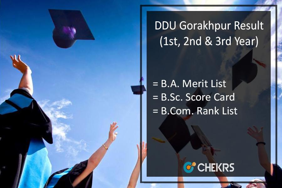 DDU Gorakhpur Result 2019- GKP BA BSC BCOM 1st-2nd-3rd Year Results