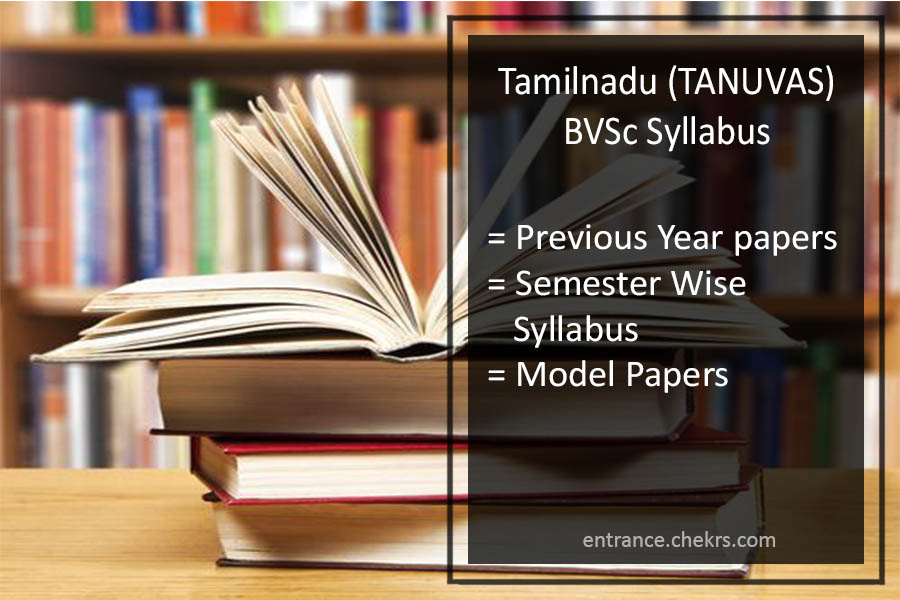 tamil-nadu-bvsc-syllabus-previous-year-paper Tamil Nadu Medical Admission Application Form on