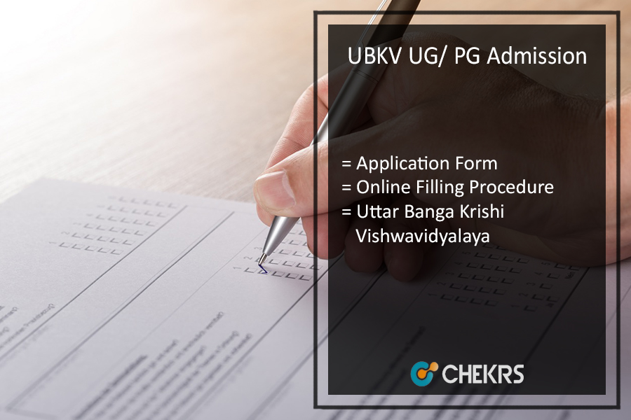 UBKV Admission, UG PG Application Form- Uttar Banga Krishi Vishwavidayalaya