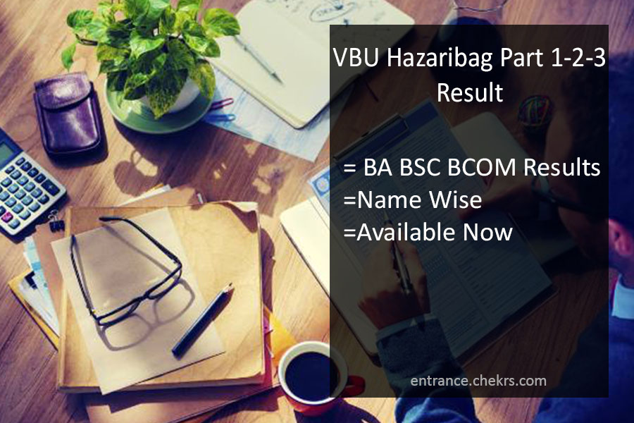 VBU Hazaribag Part 1-2-3 Result, Vinoba Bhave BA BSC BCOM Results