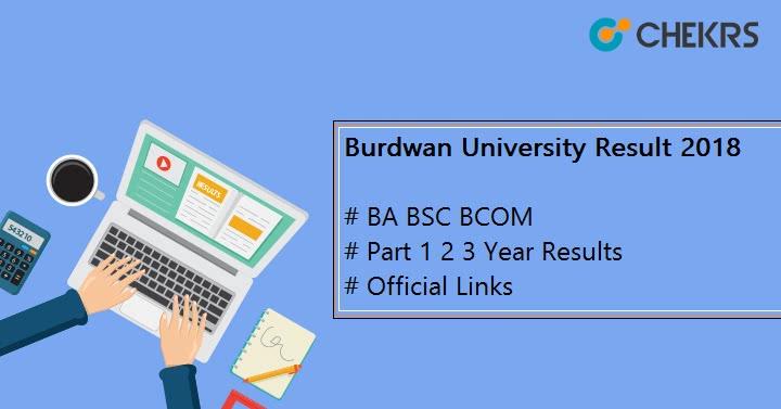 Burdwan University BA BSC BCOM Result 2019 {Released}- Part