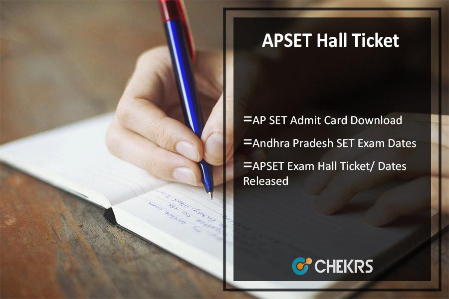 APSET Hall Ticket 2021 Download