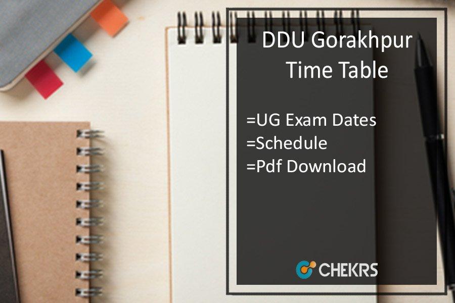 DDU Time Table 2021