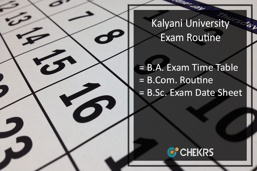 Kalyani University Exam Routine 2020