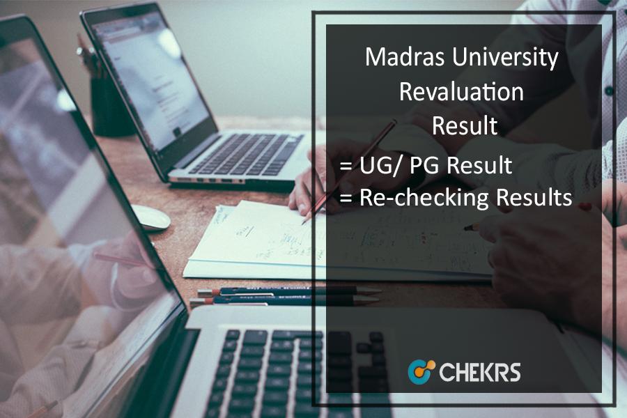 Madras University Revaluation Result 2020
