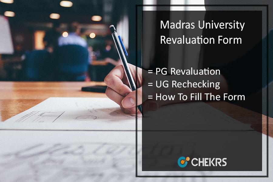 Madras University Revaluation Form 2020