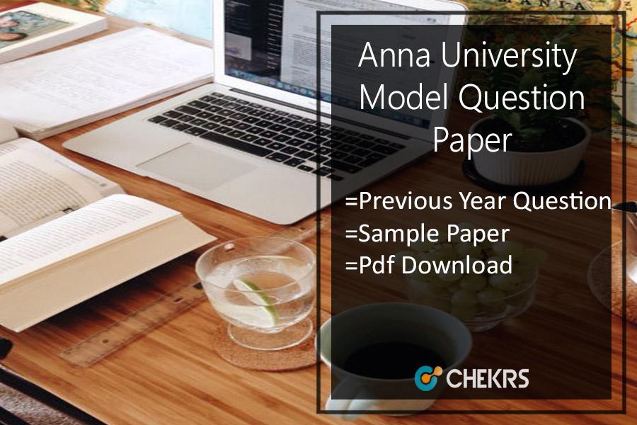 Anna University Model Question Paper 2020