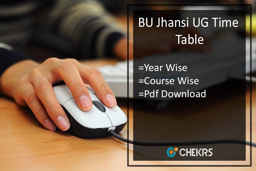 Bundelkhand University Time Table 2020