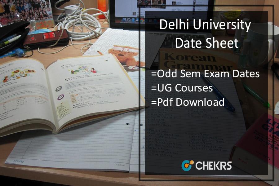 DU Date Sheet 2021