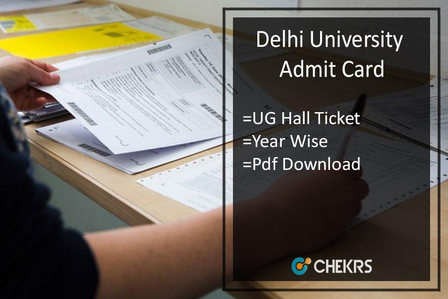 DU Admit Card 2020