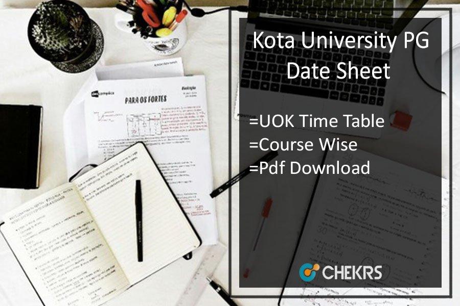 Kota University PG Date Sheet 2020