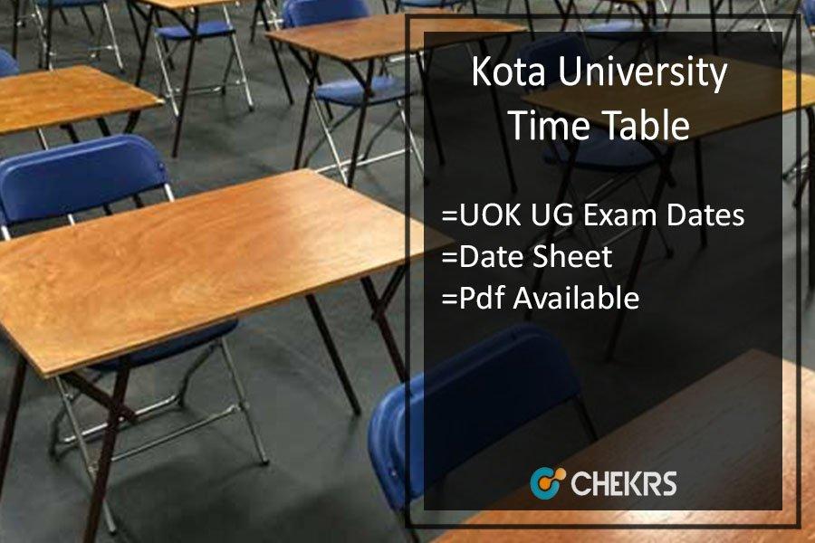 Kota University Time Table 2020