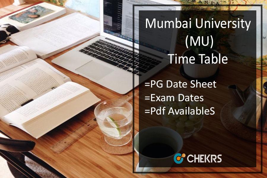 Mumbai University PG Exam Time Table 2020
