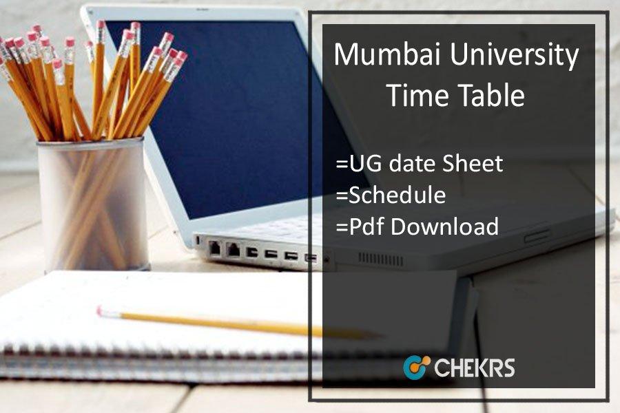Mumbai University Time Table 2020