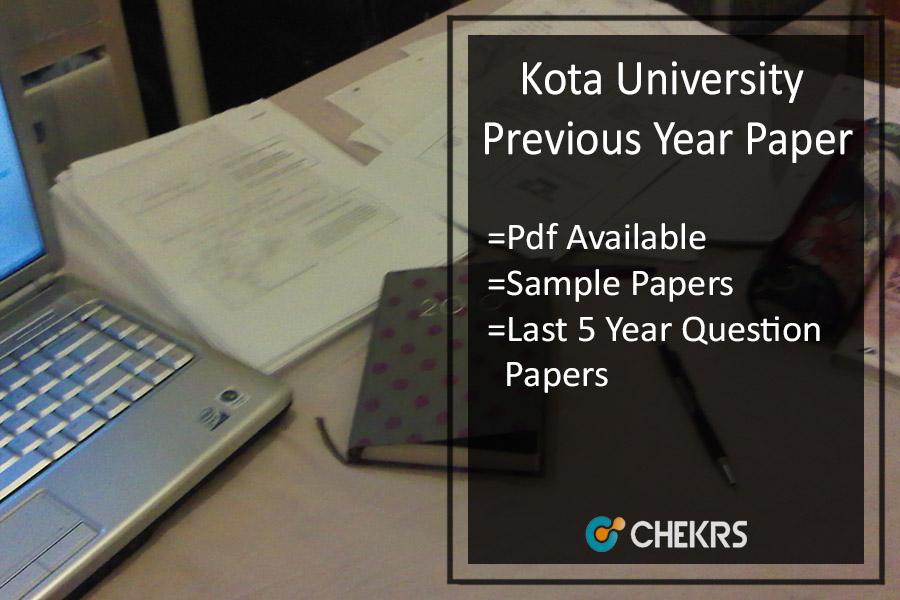 Kota University Previous Year Paper