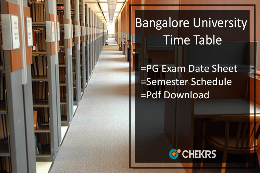 Translate Bangalore University Time Table bangaloreuniversity.ac.in Bangalore University Exam Time Table