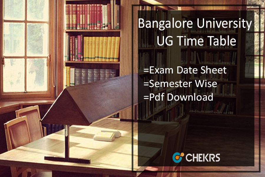 Bangalore University UG Time Table 2019