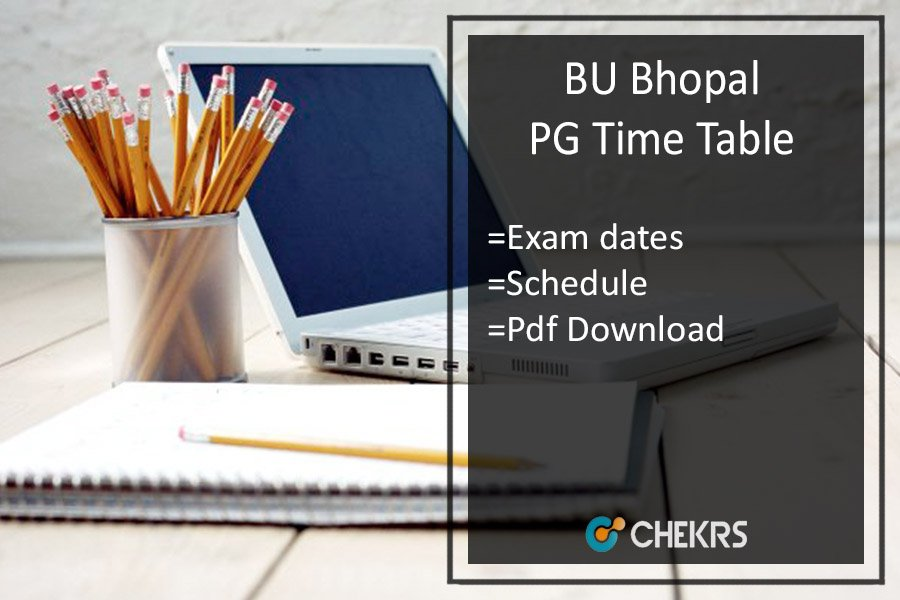 BU Bhopal Time Table 2020