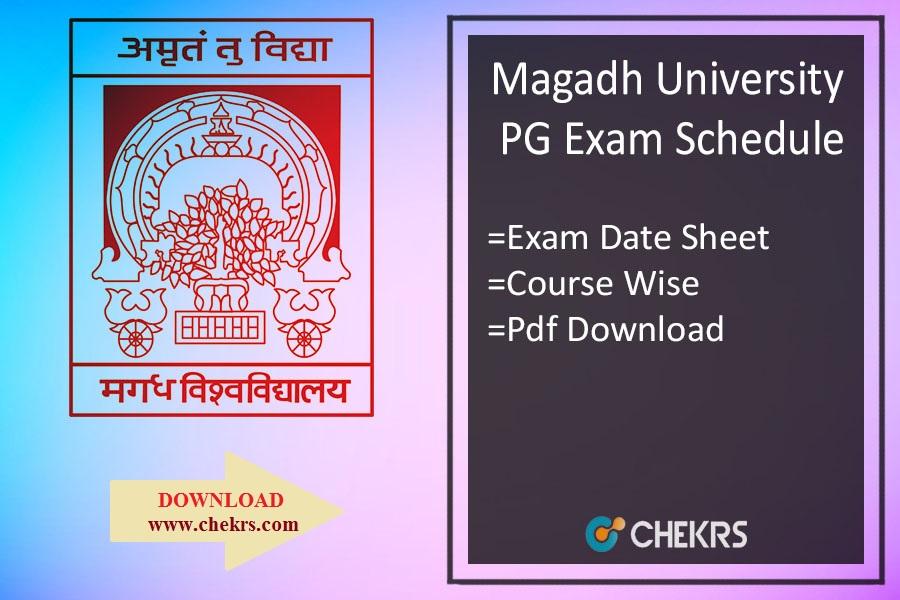 Magadh University Schedule 2019