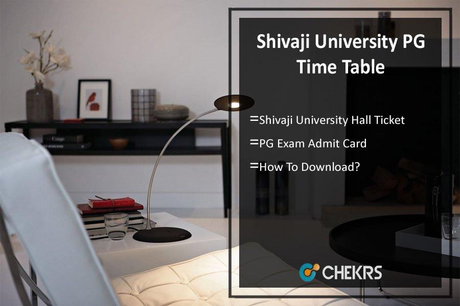 Shivaji University PG Time Table 2021