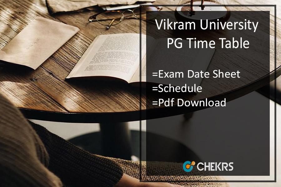 Vikram University PG Time Table 2020
