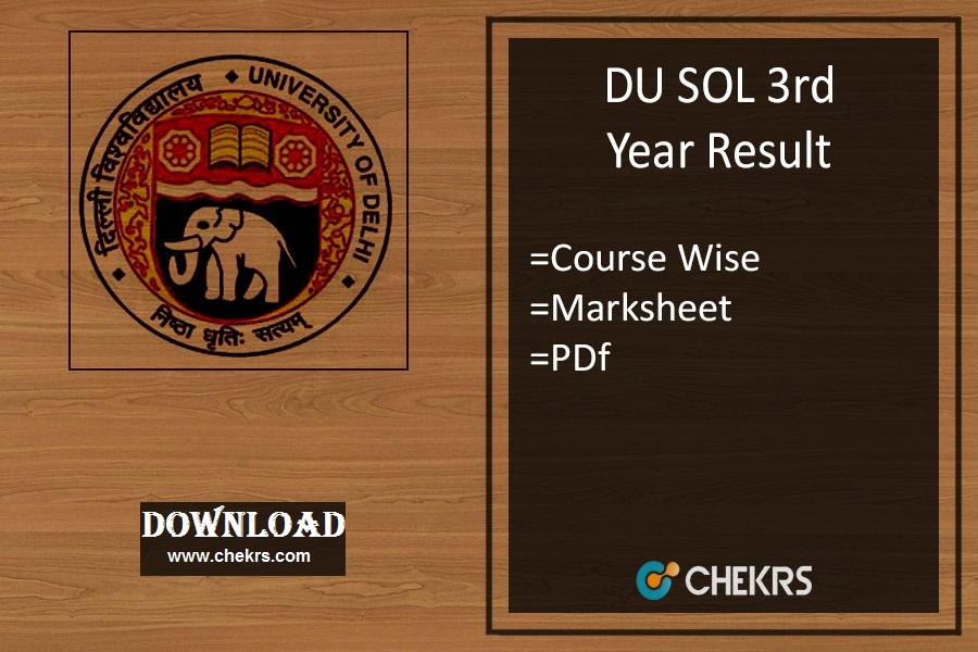 DU SOL 3rd Year Result 2021