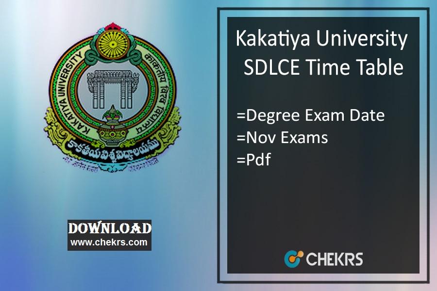 KU SDLCE Time Table 2021