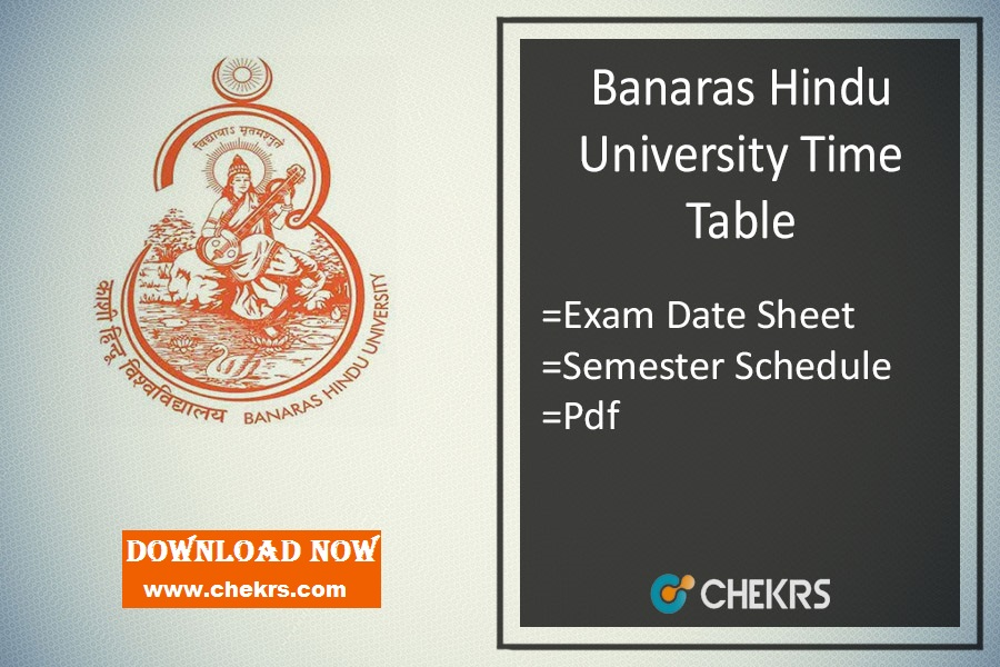 BHU Time Table 2020