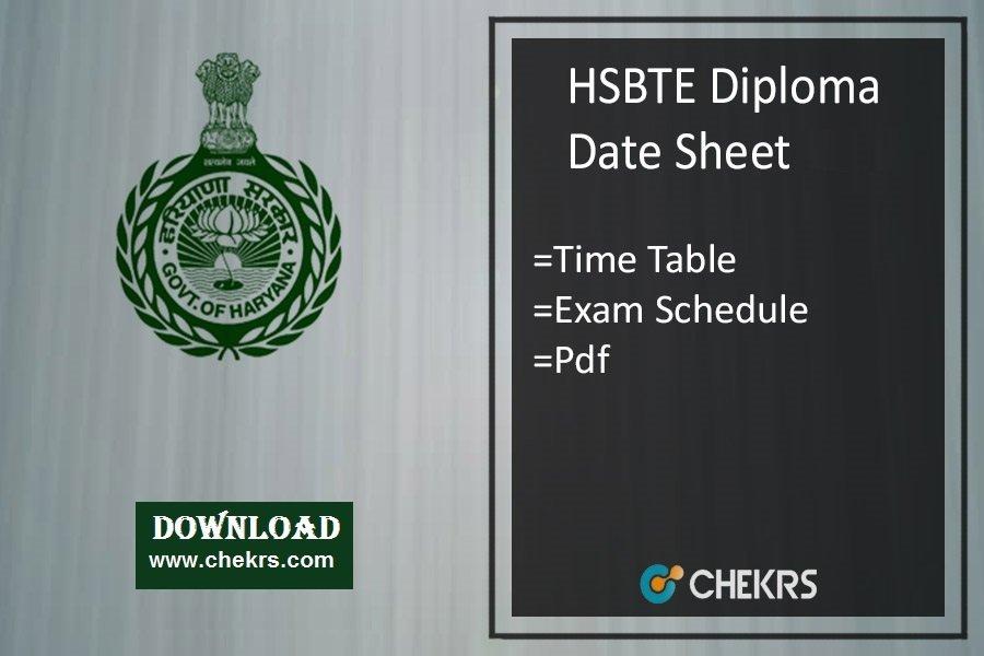 hsbte diploma date sheet 2020