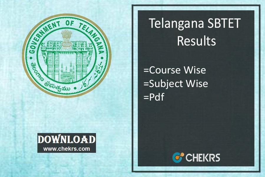 TS SBTET Results 2019