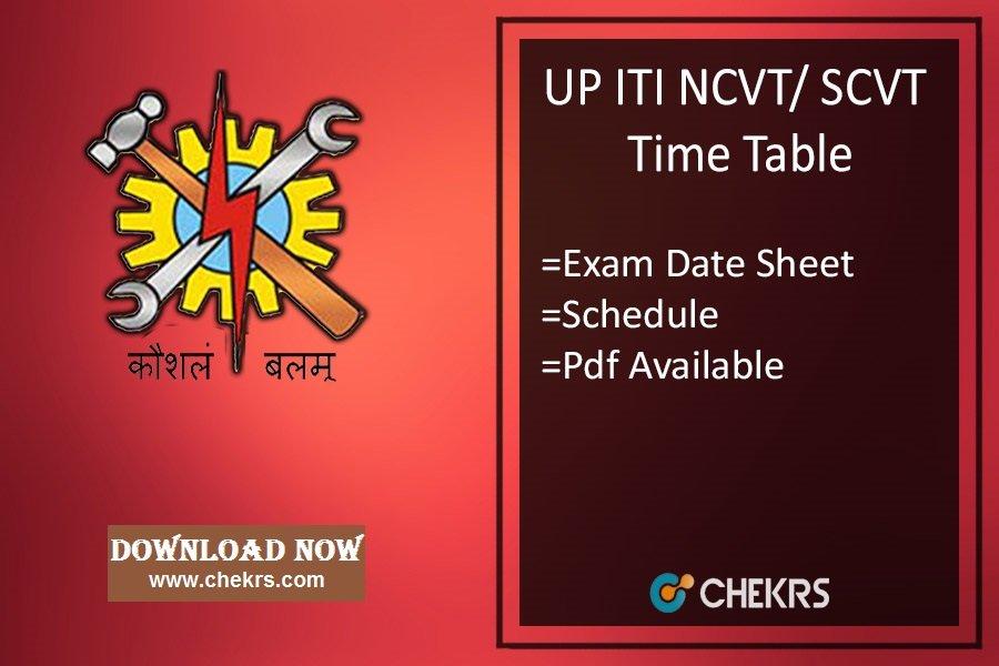 UP ITI Date Sheet 2020