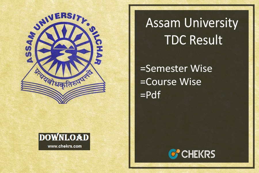 Assam University TDC Result 2021