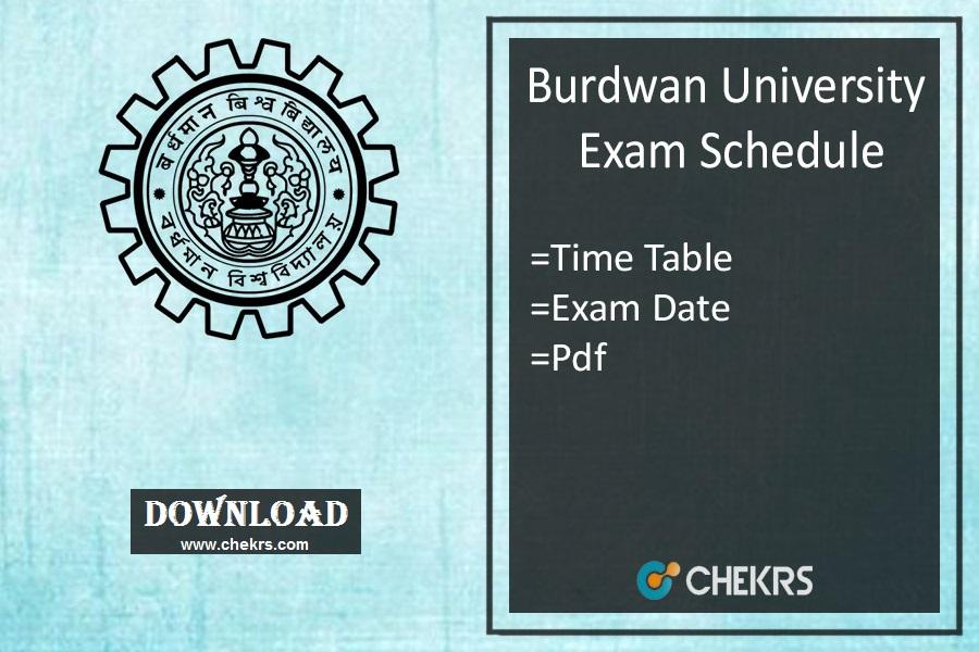 burdwan university exam schedule 2021