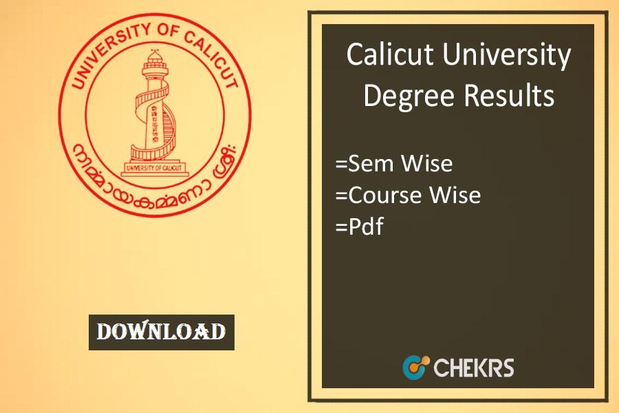 calicut university result 2020