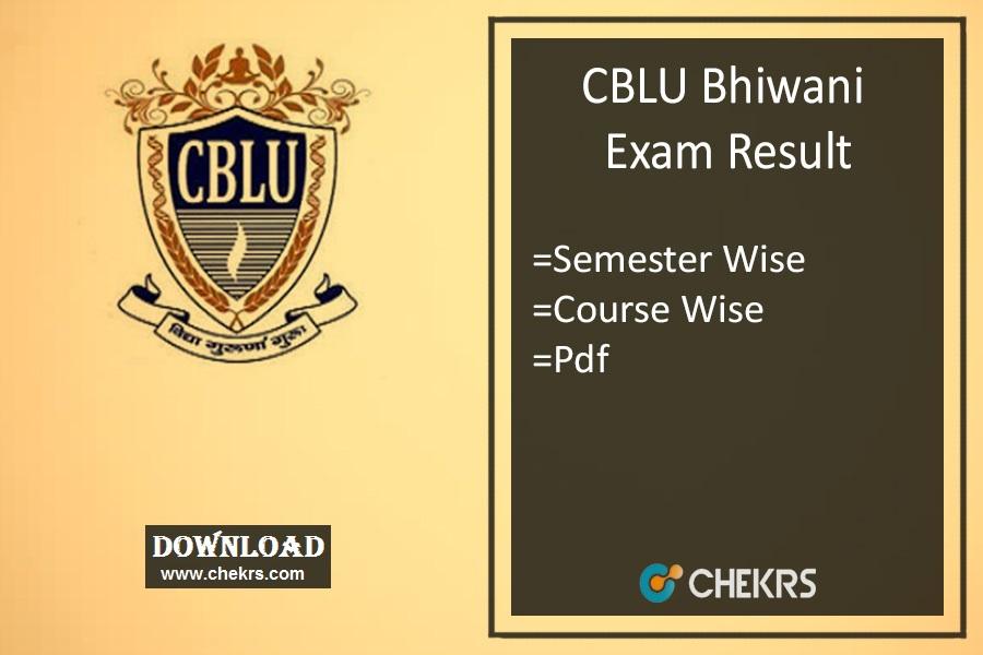 CBLU Bhiwani Result 2021